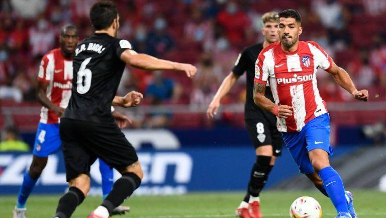 Luis Suárez con el Atlético de Madrid, seleccionado de Uruguay