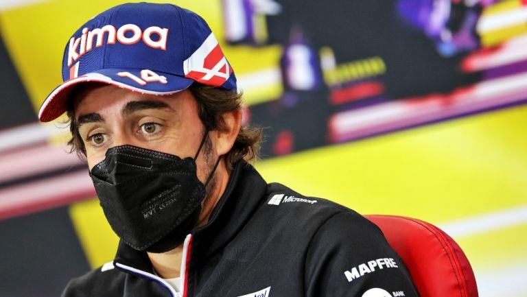 Fernando Alonso en conferencia de prensa