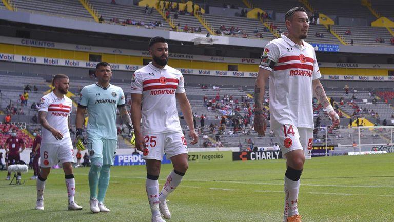 Jugadores de Toluca previo al partido vs Atlas