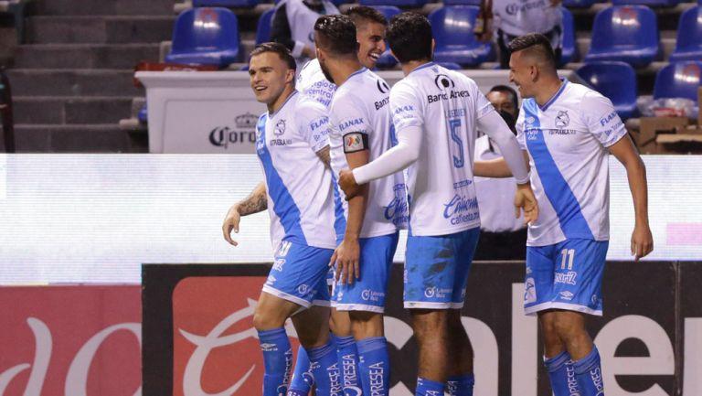 Puebla, en festejo de gol