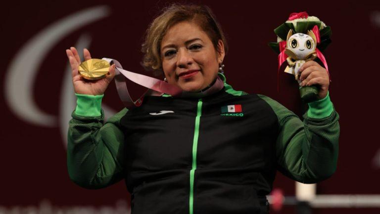 Amalia Pérez tras conquistar el oro