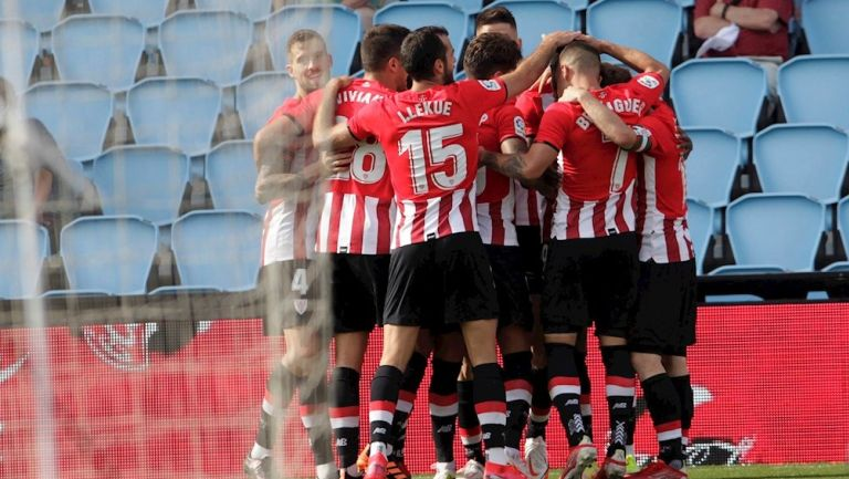 Jugadores del Athletic celebrando el gol vs el Celta