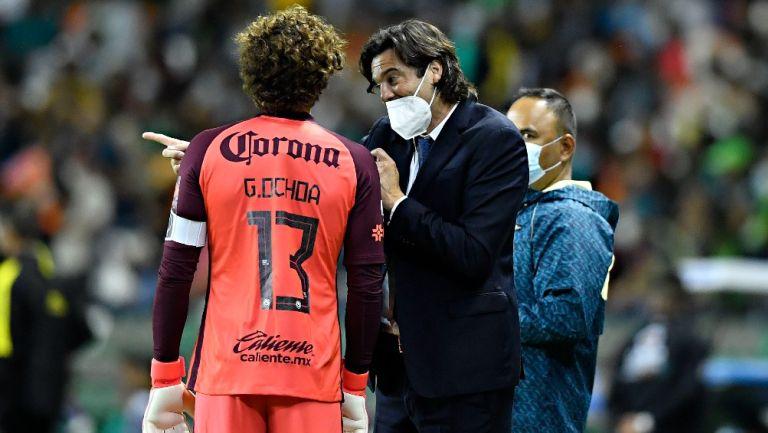 América: Santiago Solari felicitó a sus jugadores por empate ante León
