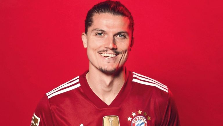 Marcel Sabitzer porta la playera del Bayern Munich