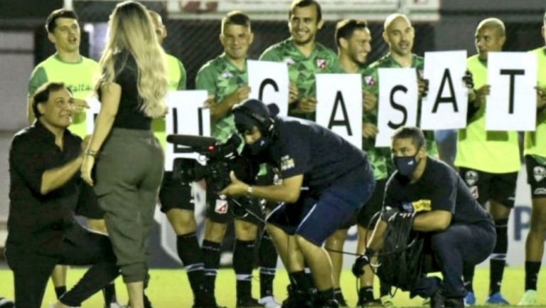 Celso Ayala en la pedida de mano