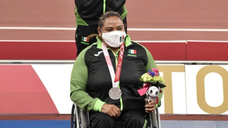 Gloria Zarza ganó plata en lanzamiento de bala