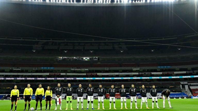 Seleccionado nacional en el Estadio Azteca