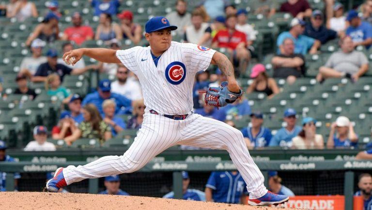 Manuel Rodríguez durante un partido con Chicago Cubs