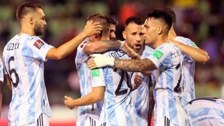 Argentina en festejo de gol