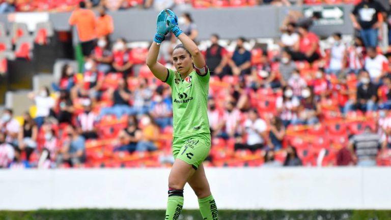 Ana Gaby Paz durante un partido