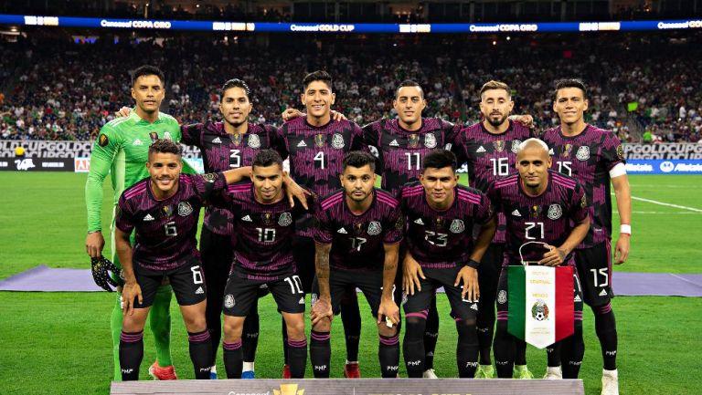 Selección Mexicana previo a un partido