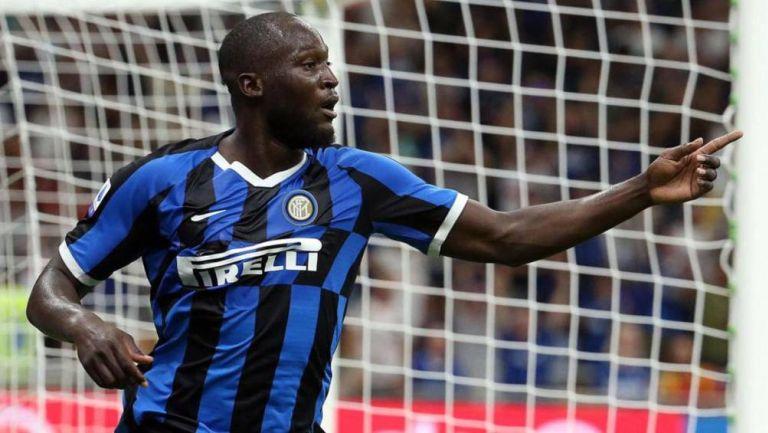 Lukaku en un partido con el Inter