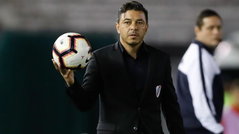 Técnico del River Plate Marcelo Gallardo