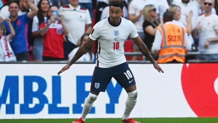 Jesse Lingard en festejo con Inglaterra ante Andorra a lo CR7