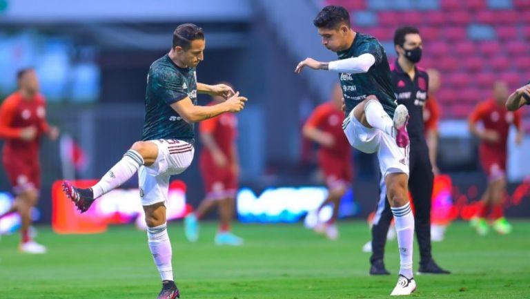 Guardado y Edson Álvarez previo al duelo ante Costa Rica