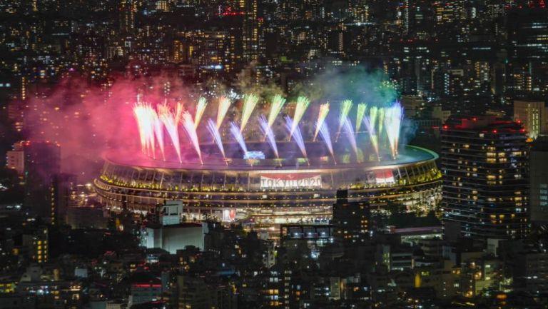 Estadio Olímpico de Tokio en la ceremonia del clausura