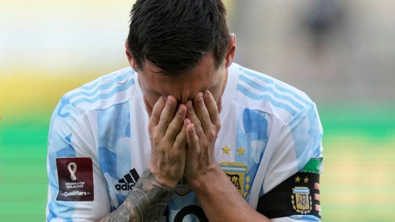 Lionel Messi en lamento con Argentina