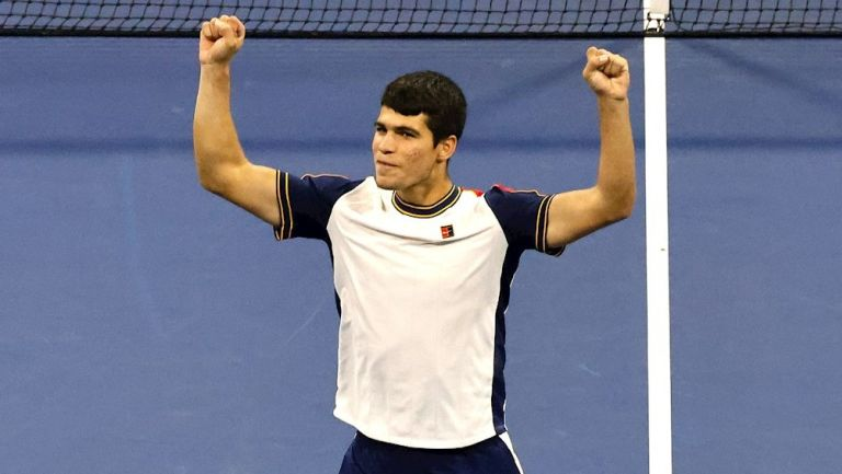 Carlos Alcaraz en victoria sobre Peter Gojowczyk
