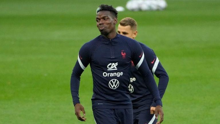 Pogba en un entrenamiento con Francia