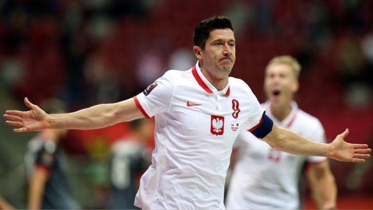 Lewandowski en un partido con Polonia