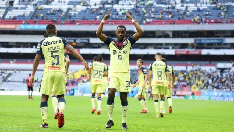 Renato Ibarra tras anotar gol con América