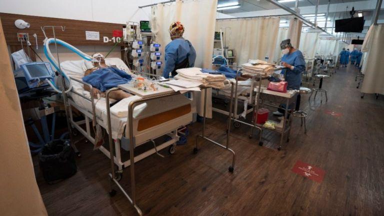 Pacientes de coronavirus en un hospital de la CDMX