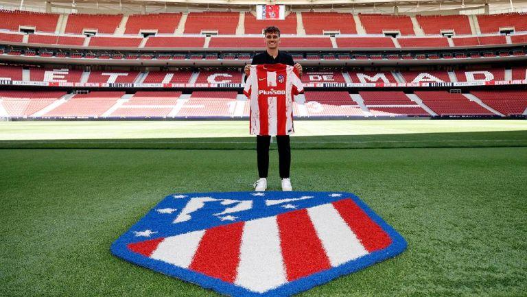 Griezmann en su presentación con el Atlético de Madrid
