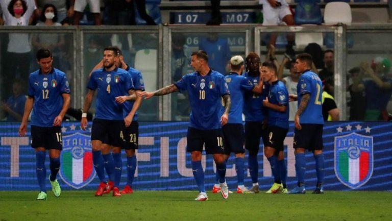 Jugadores de Italia en festejo