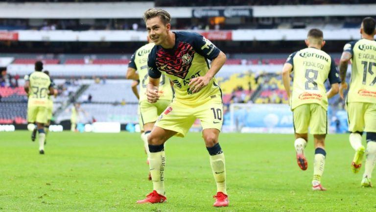 Sebastián Córdova tras anotar gol a favor del América