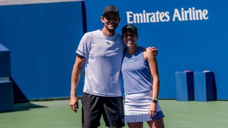 Giuliana Olmos y Marcelo Arévalo en el US Open