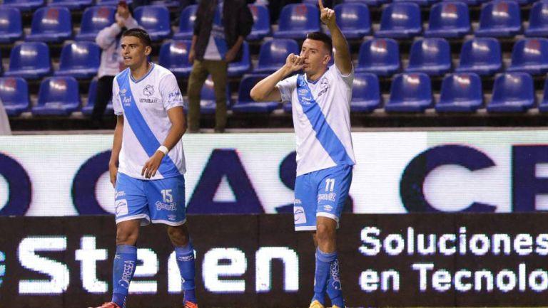 Álvarez celebrando el gol del partido