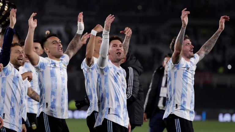 Argentina en festejo tras victoria