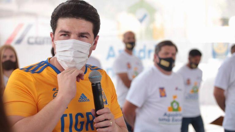 Samuel García durante evento