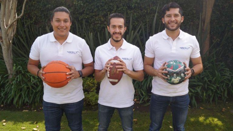 Diego González, Luis Javier Pavón y Carlos Caudillo, creadores de Sembrando Campeones