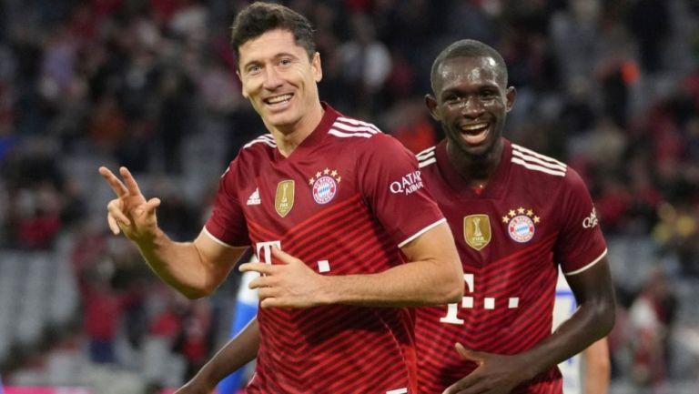 Lewandowski tras anotar un gol a favor del Bayern Munich