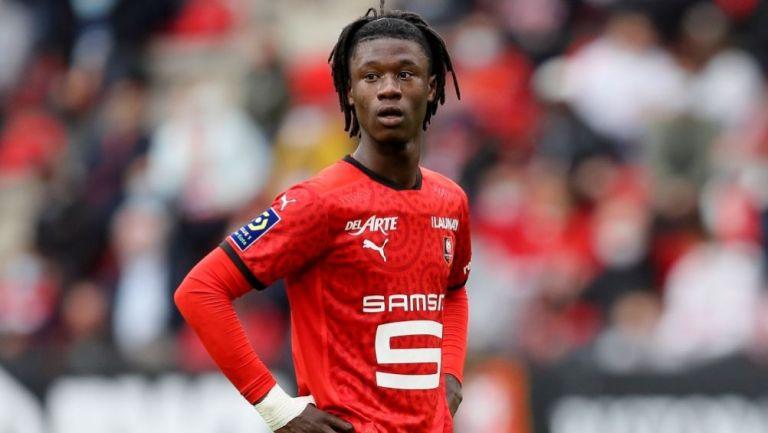 Camavinga en un partido del Rennes