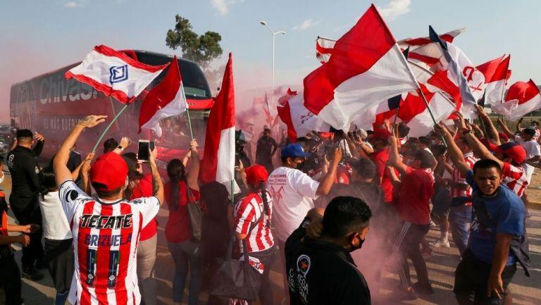 Aficionados de Chivas previo a un partido