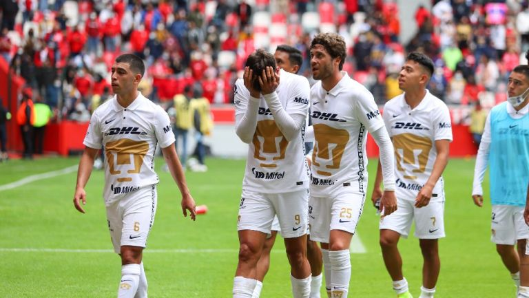 Jugadores de Pumas tras derrota vs Toluca