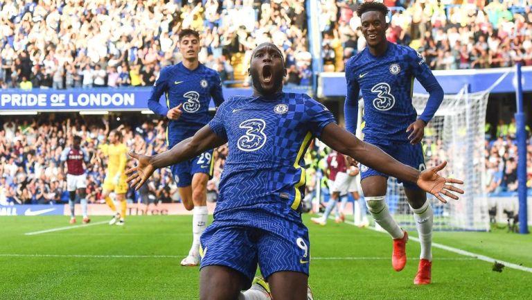 Romelu Lukaku en festejo en Stamford Bridge