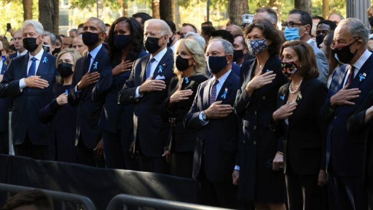 Joe Biden, Barack Obama y Bill Clinton en el homenaje del 11 de septiembre