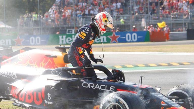 Max Verstappen tras el incidente con Lewis Hamilton