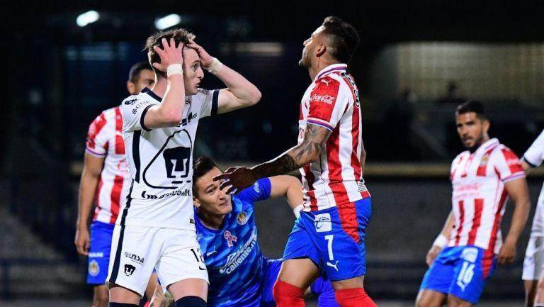 Pumas y Chivas en el juego más reciente en CU