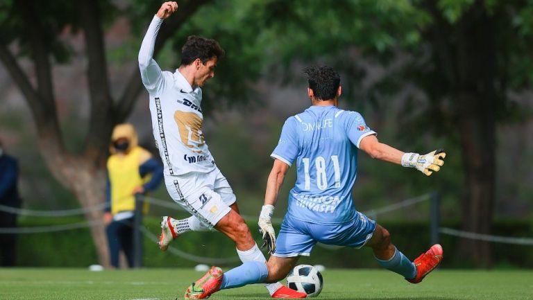 Juan Ignacio Dinenno con Pumas Sub 20 ante Chivas en Cantera