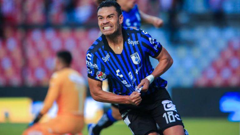Pablo Barrera celebrando el primer gol del partido
