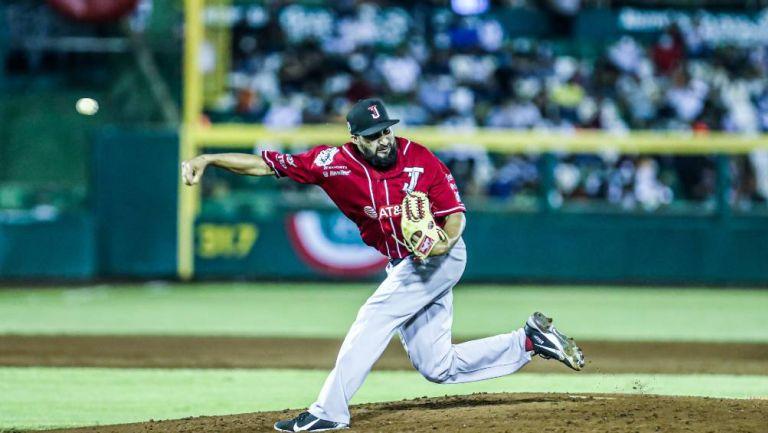 El pitcher de los Toros durante el partido