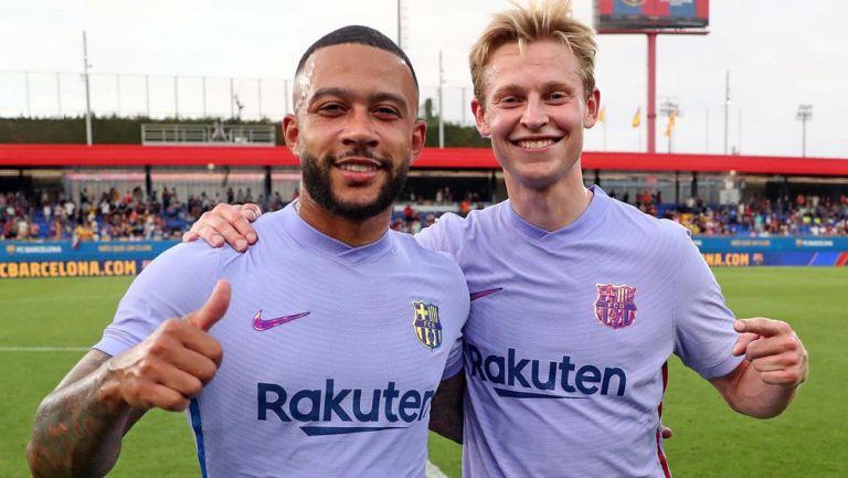 Memphis y Frenkie de Jong tras un duelo con Barcelona
