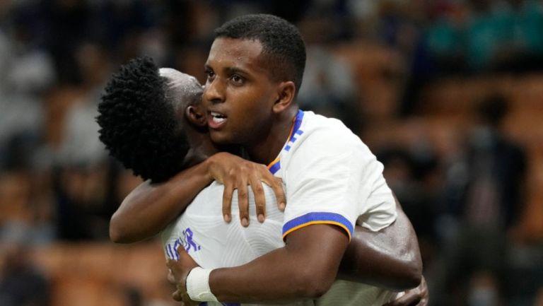 Rodrygo y Vinicius festejando el gol del triunfo ante el Inter de Milán