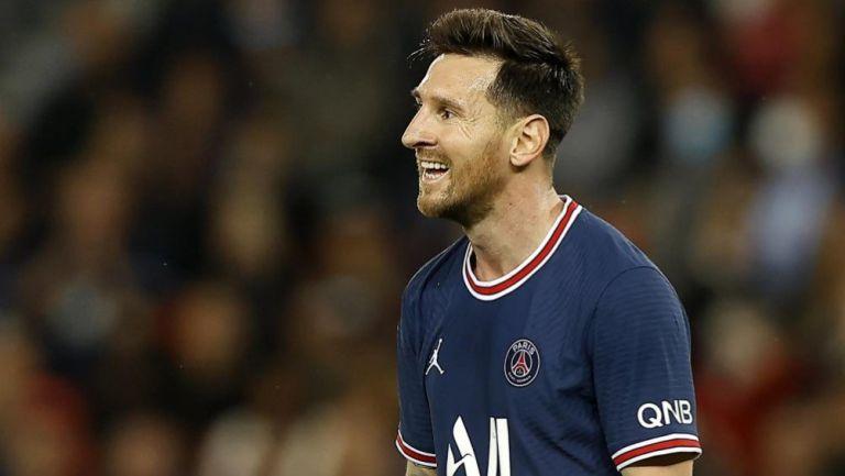 Lionel Messi en acción con PSG