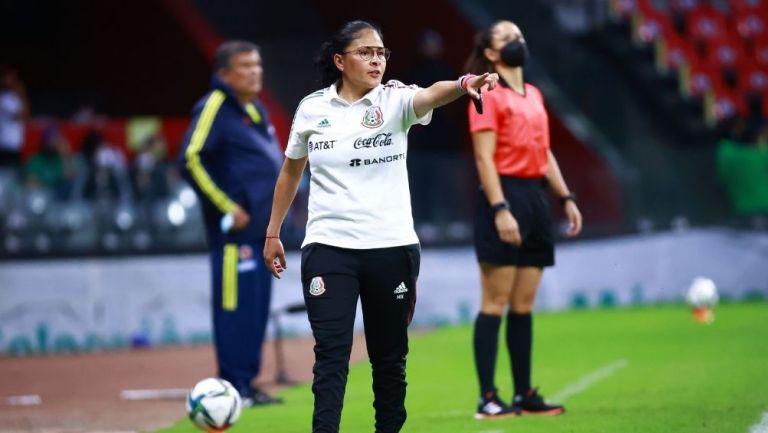 Mónica Vergara en el partido