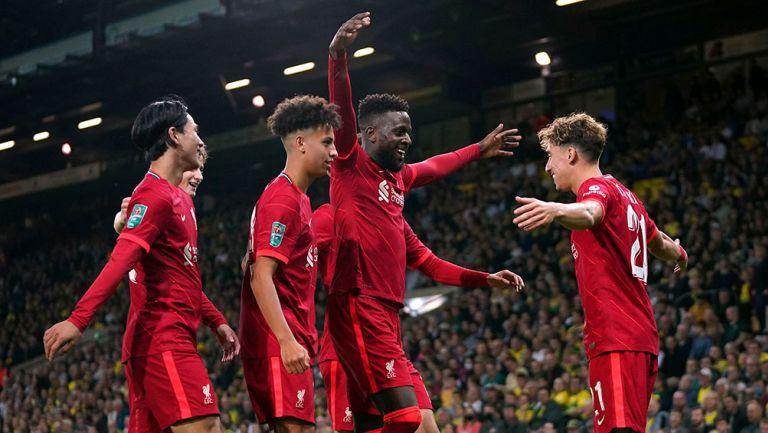 Carabao Cup: Liverpool jugó con suplentes y avanzó a Octavos de Final